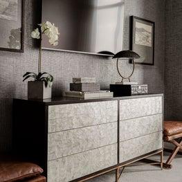 Bedroom dresser area designed by Robin Gannon Interiors