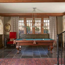 Stone Arches Open to Billiards Room - Minnesota