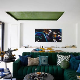 an eclectic family and game room