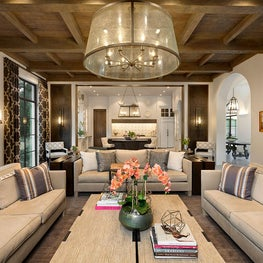 Spanish Colonial Equestrian Estate, custom lighting, fabrics and furnishings