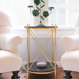 Updated Classic - Gold + Green + Black Marble Vignette