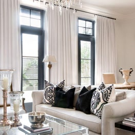 Relaxed and elegant design creates feeling of spaciousness.