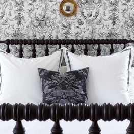 A beautiful guest bedroom.