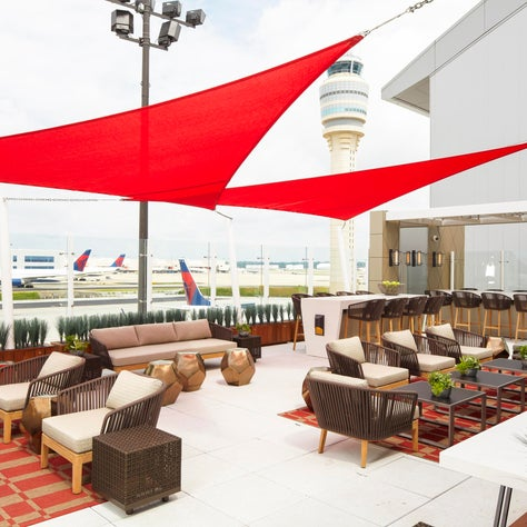 Delta's first outdoor Sky Deck at the Atlanta and JFK airports