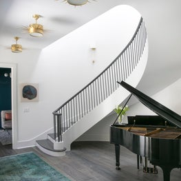 Stair Entry Hall / New curved entryway stair