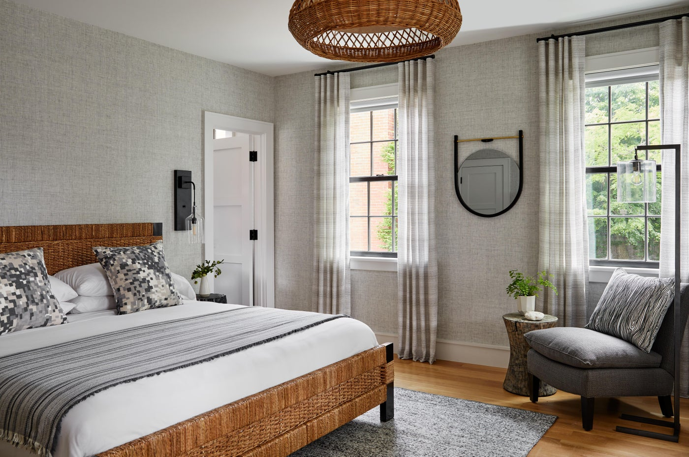 Boutique Hotel Bedroom in neutrals with texture