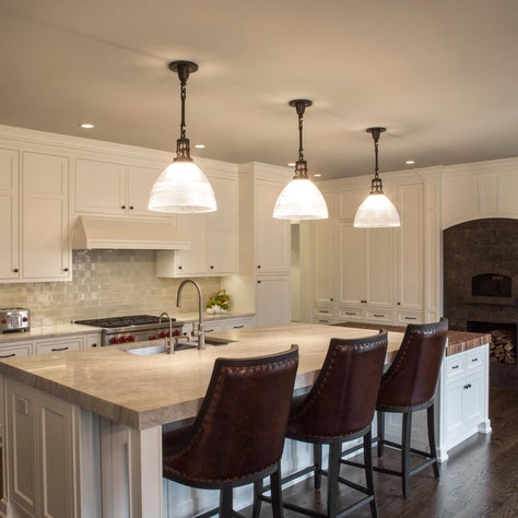 Lake Forest Chef's Kitchen - Custom Pizza Oven w/ Large Island