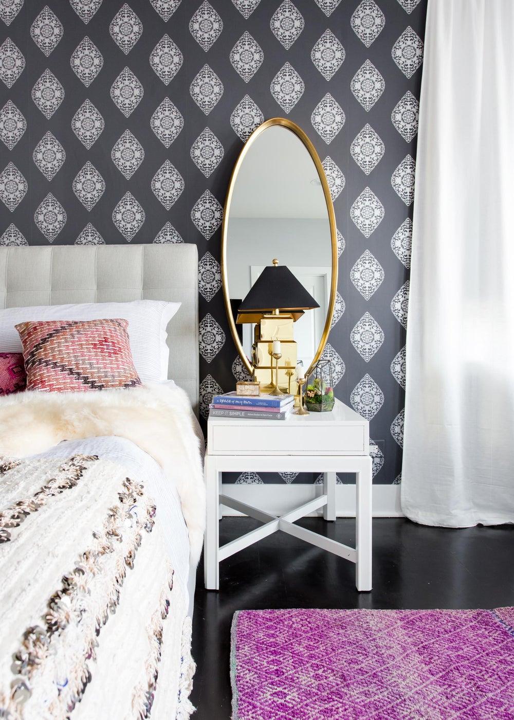 West Loop Bohemian Master Bedroom