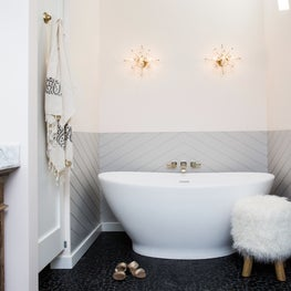 Mill Valley Rustic Glam Bathroom with Soaking Tub