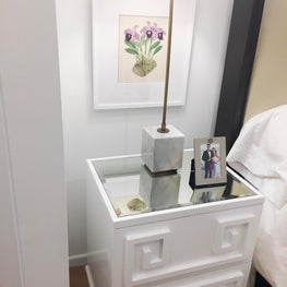 Tribeca studio - white bedroom - detail shot