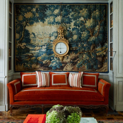 Phillimore Gardens Mansion House - Custom French Panelling, Antique Tapestry