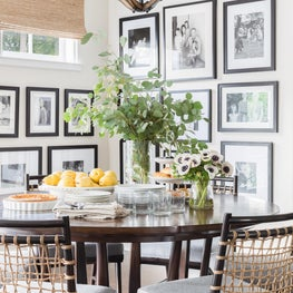 Transitional California Spanish Revival Breakfast Room