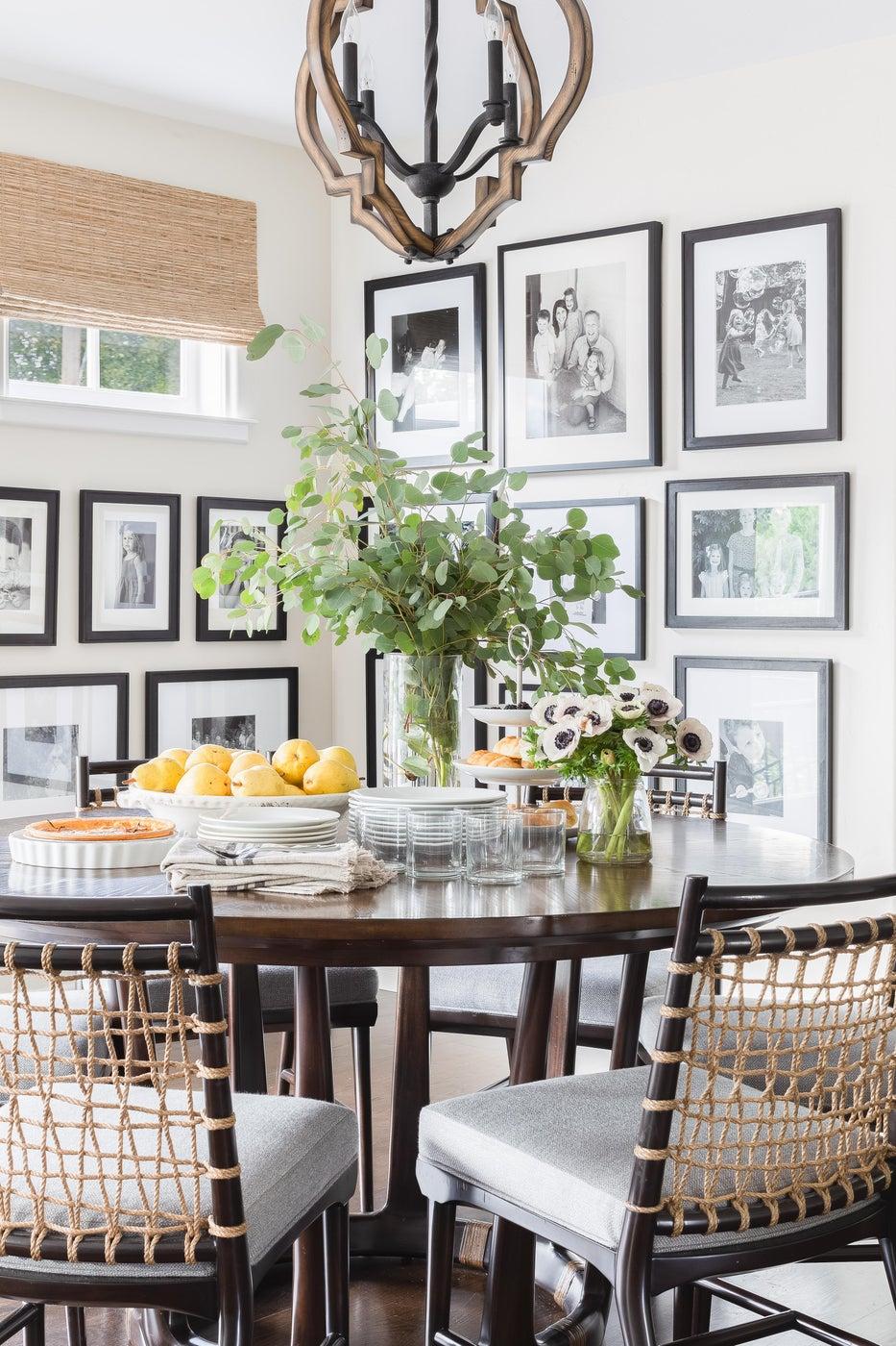 Transitional California Spanish Revival Breakfast Room