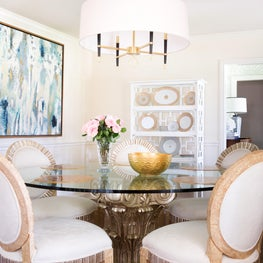 Dining Room Paired Back Glamour