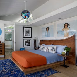Eclectic Modern Master Bedroom - Hollywood Hills