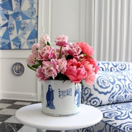 Antique Blue & White Cachepot