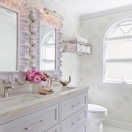 Feminine Bathroom with Custom Vanity