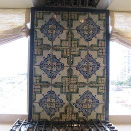 San Francisco flat kitchen, Moroccan tile backslash