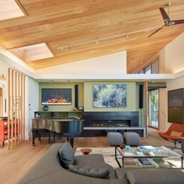Mid Century inspired new home in San Francisco Bay Area