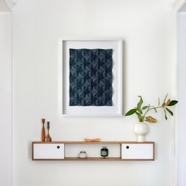 Modern San Francisco Condo Entryway with Wall-Mounted Console