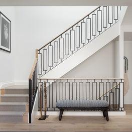 Custom Oak-Capped Steel Staircase