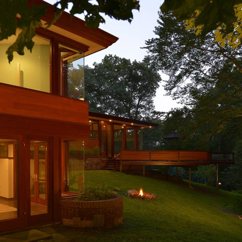 A new addition and revitalization of an iconic Usonia home in Pleasantivlle, NY.