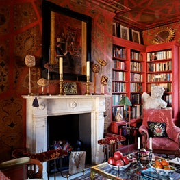 Rich colours, opulent patterns and textured fabrics combine in this London Study