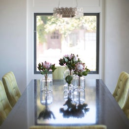 Family Home with a View- Dining Room Vignette