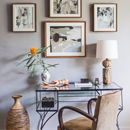 Mid City LA Living Room Desk detail