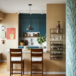 Colorful, eclectic kitchen