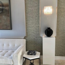 Details of a  very dear client in her curated living room with some pieces from my own collection.