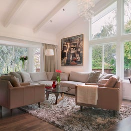 Los Altos contemporary remodel. Sofa area.