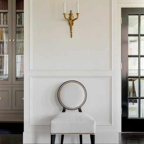 Oval Backed Chair in Living Room.
