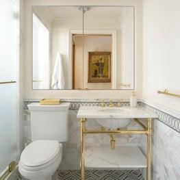 New York Merinoff Apartment Guest Bathroom