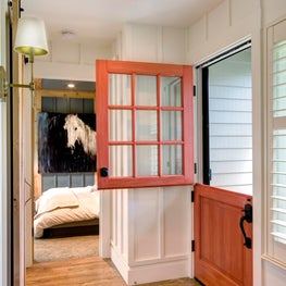 Red dutch door and home entryway