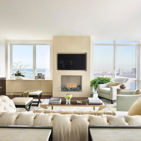 Penthouse II, Living Room, Fire Place, Family Room, Media Room