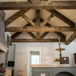 Private Residence, Old Patina Reclaimed Beams in Kitchen
