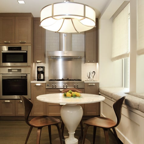 Manhattan Kitchen with Marble Topped Table and Norman Cherner Chairs
