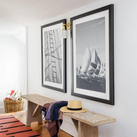 Fun Coastal Hallway with Sailboat Photography