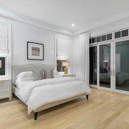 Hamptons Junior Master Bedroom Staging