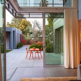 Modern Indoor - Outdoor Garden Setting