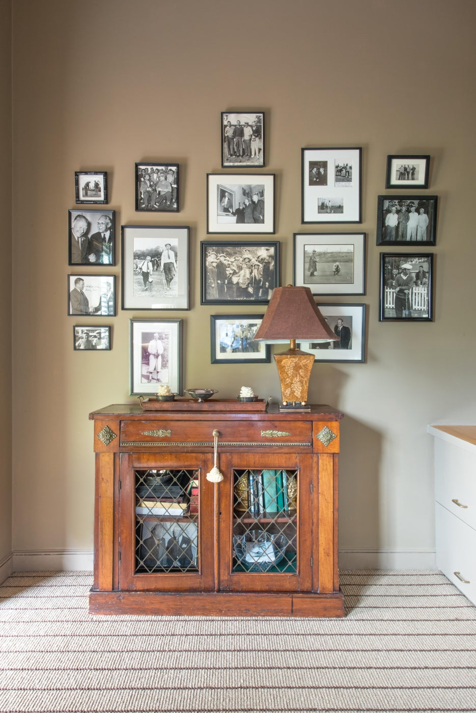 Antique Sideboard and Photo Collage