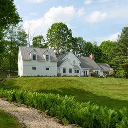 Modern farmhouse in the landscape