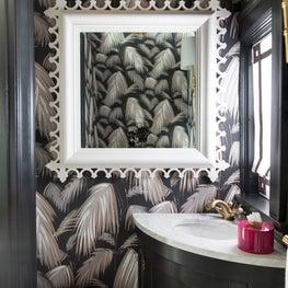 Amanda Reynal Interiors Powder Room