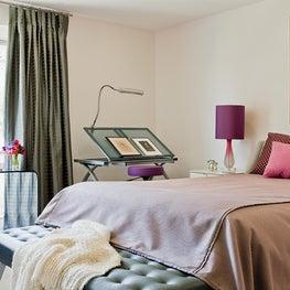 Harvard Square Family Home, Girl's childhood bedroom update - kids grow up!