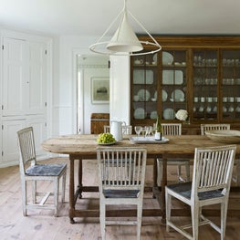 Rustic Cottage Dining Room.  South Hampton, NY