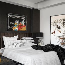 Eclectic Apartment, Master Bedroom, Customised BedLinen