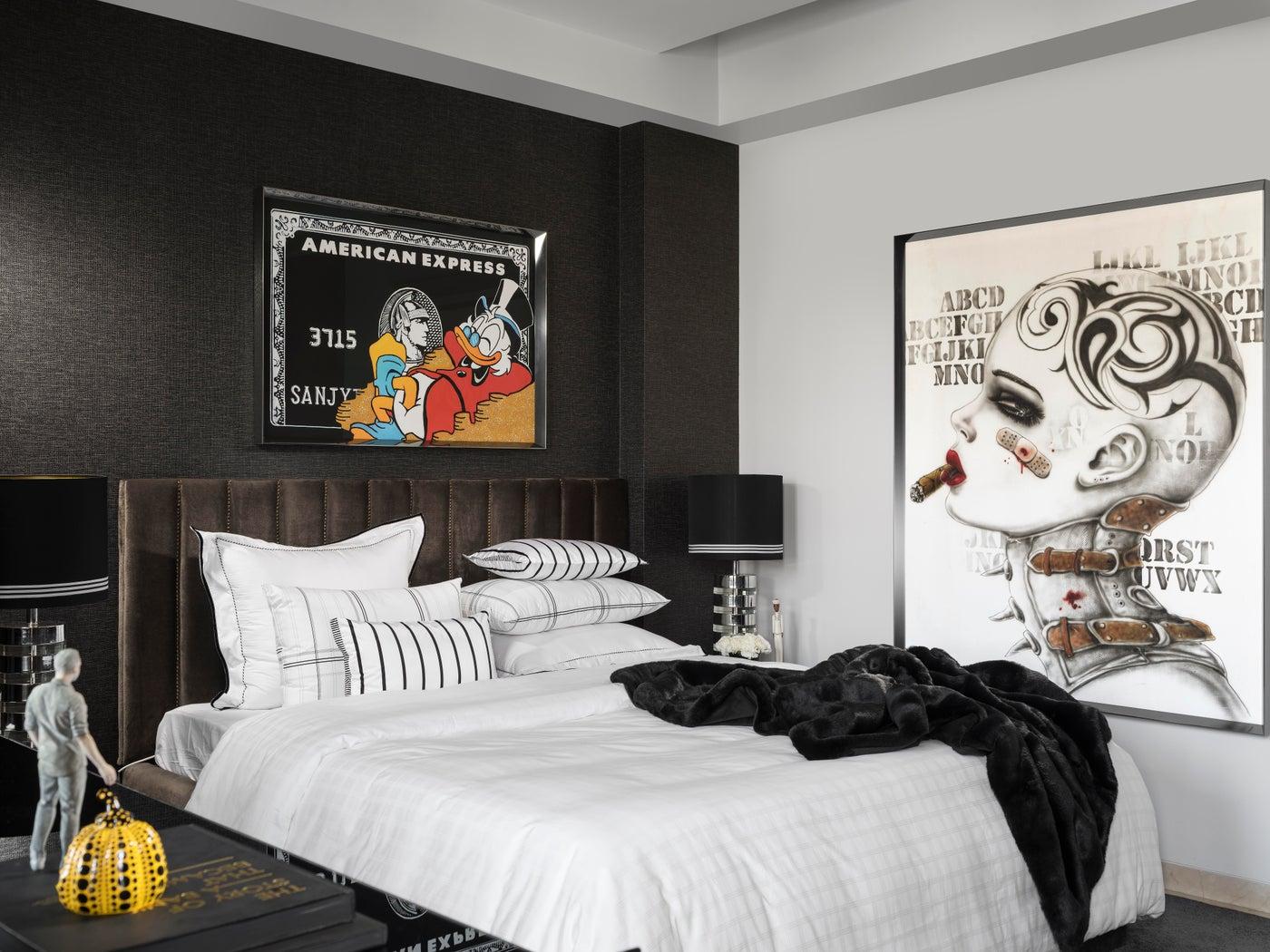 Eclectic Apartment, Master Bedroom, Customised BedLinen