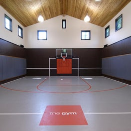 Custom Indoor Basketball Sports Court in Westchester, NY