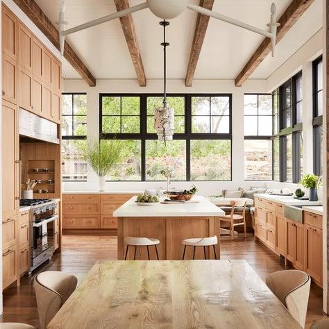 Rustic Modern Vineyard Kitchen